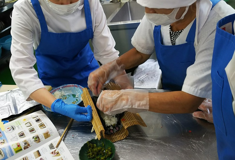 祭り寿司の練習